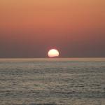 夕日と虹~笹川流れ