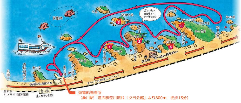 笹川流れ周遊コース
